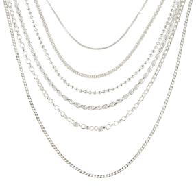 Ketten-Set 6 teilig 925 Silber