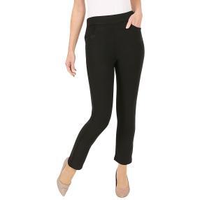Damen-Hose 'Jenny' mit tonigem Strass schwarz