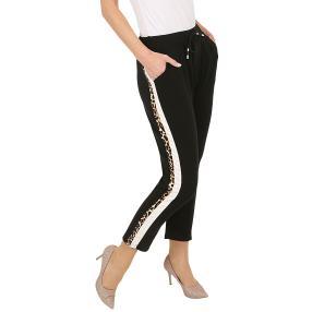 Damen-Hose 'Jasmin' mit Seitenstreifen schwarz