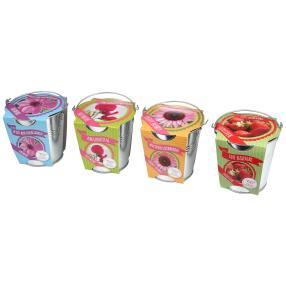 4er Set Gartenblumen & Erdbeere