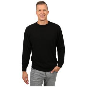 Cashmerelike Herren-Pullover Rundhals, schwarz