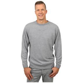 Cashmerelike Herren-Pullover Rundhals, grau