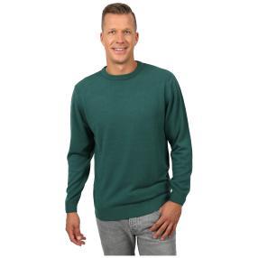 Cashmerelike Herren-Pullover Rundhals, dunkelgrün