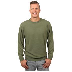Cashmerelike Herren-Pullover Rundhals, khaki
