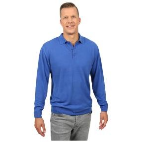 Cashmerelike Herren-Pullover Polokragen, blau