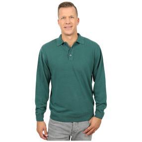 Cashmerelike Herren-Pullover Polokragen, grün