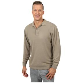 Cashmerelike Herren-Pullover Polokragen, beige