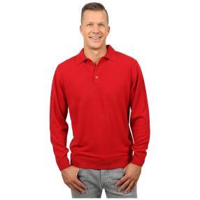 Cashmerelike Herren-Pullover Polokragen, rot