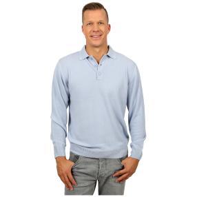 Cashmerelike Herren-Pullover Polokragen, hellblau