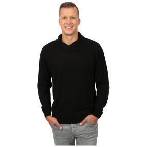 Cashmerelike Herren-Pullover Schalkragen schwarz