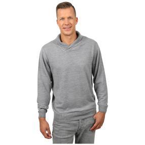 Cashmerelike Herren-Pullover Schalkragen, grau