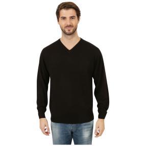 Cashmerelike Herren-Pullover V-Ausschnitt, schwarz