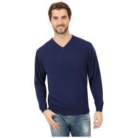 Cashmerelike Herren-Pullover V-Ausschnitt, marine