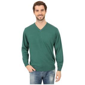 Cashmerelike Herren-Pullover V-Ausschnitt, grün