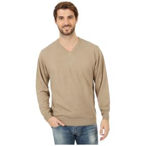 Cashmerelike Herren-Pullover V-Ausschnitt, beige