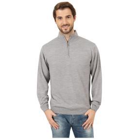 Cashmerelike Herren-Pullover Stehkragen grau