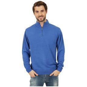 Cashmerelike Herren-Pullover Stehkragen blau