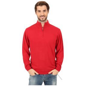 Cashmerelike Herren-Pullover Stehkragen rot