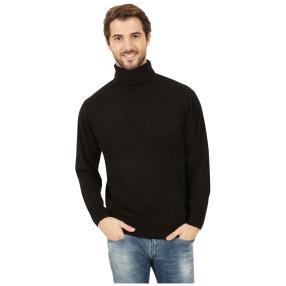 Cashmerelike Herren-Pullover Rollkragen, schwarz