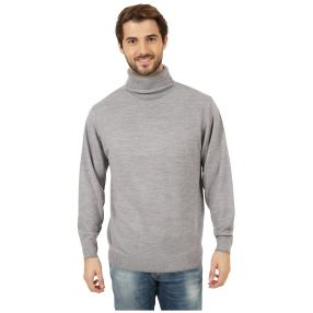Cashmerelike Herren-Pullover Rollkragen grau