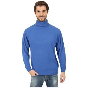 Cashmerelike Herren-Pullover Rollkragen, blau