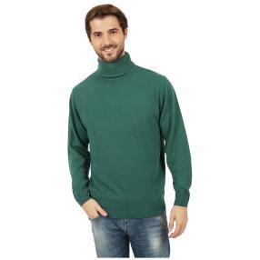 Cashmerelike Herren-Pullover Rollkragen, grün