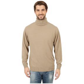 Cashmerelike Herren-Pullover Rollkragen, beige