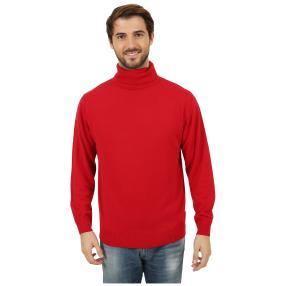 Cashmerelike Herren-Pullover Rollkragen, rot