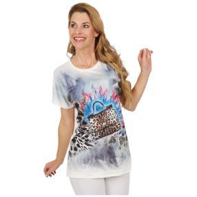 Damen-Shirt 'Fashion' weiß/multicolor
