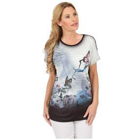 Damen-Shirt 'Lovely Spring' schwarz/multicolor