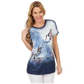 Damen-Shirt 'Lovely Spring' blau/multicolor