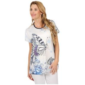 Damen-Shirt 'Butterfly' marine/multicolor