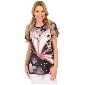 Damen-Shirt 'Watercolor Dream' schwarz/multicolor
