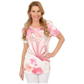 Damen-Shirt 'Watercolor Dream' weiß/multicolor