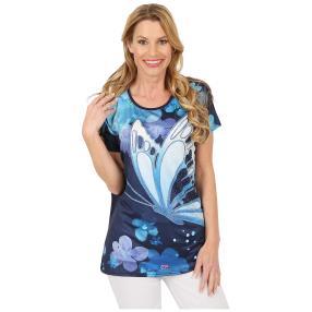 Damen-Shirt 'Watercolor Dream' navy/multicolor