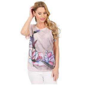 Damen-Shirt 'Blossoms' pink/multicolor