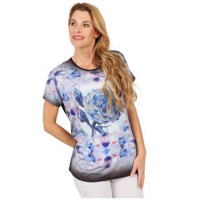 Damen-Shirt 'Pretty Rose' schwarz/multicolor