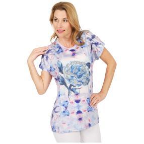 Damen-Shirt 'Pretty Rose' lila/multicolor