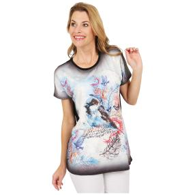 Damen-Shirt 'Cute Bird' schwarz/multicolor