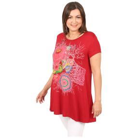Damen-Shirt 'Rosalinda' rot/multicolor