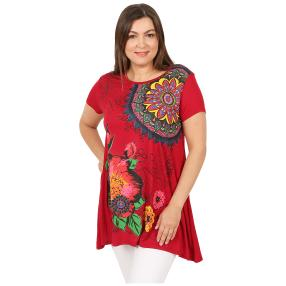 Damen-Shirt 'Paloma' rot/multicolor