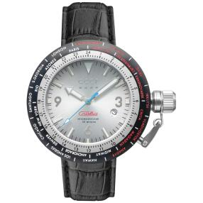 "CCCP Automatikuhr ""Russia Timezone"" schwarz/weiß"
