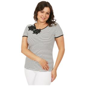 Damen-Shirt 'Lady Stripe'  weiß/marine