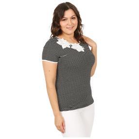 Damen-Shirt 'Lady Stripe' schwarz/weiß