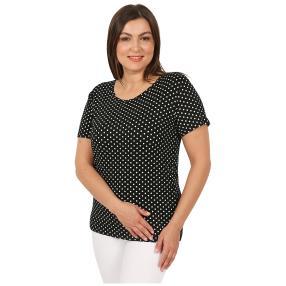 Damen-Shirt 'Elegant Dots'  schwarz/weiß