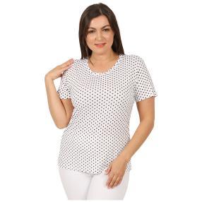 Damen-Shirt 'Elegant Dots'  weiß/schwarz