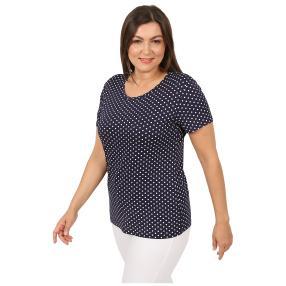 Damen-Shirt 'Elegant Dots'  marine/weiß