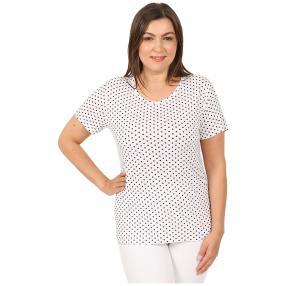 Damen-Shirt 'Lace & Dots'  weiß/schwarz