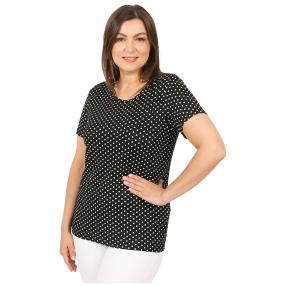 Damen-Shirt 'Lace & Dots'  schwarz/weiß