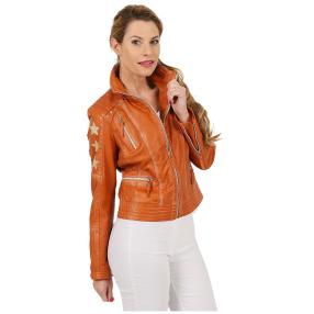 BLUE MONKEY Damen-Lederjacke 'Jenna' terracotta